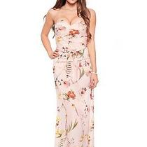 New Ted Baker Pink Alanah Botanical Bloom Print Maxi Dress Tb1 Uk8 Rrp 249 Photo