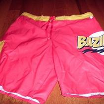 New the Big Bang Theory Bazinga Mens Swim Shorts L-Trunks Large Nwot Tv Series Photo