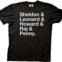New the Big Bang Theory Cast Names Adult Shirt Tv Show Comedy Photo