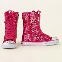 New the Children's Place Hi-Top  Girl's Sequins Shine Size 12 Big Girls  Photo