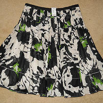 New the Limited Ladies Black Print Pleated Skirt  Lining Size Xs Msrp 59.50 Photo