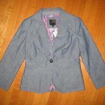 New the Limited Womens Blazer Chambray Blue Size Xs Paisley Lining Nwt Photo