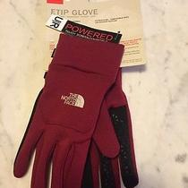 New the North Face Etip Glove Biking Red  Nwt Photo