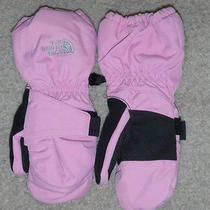 New the North Face Girls 3t Ruffle Pink Acrylic Gloves Photo
