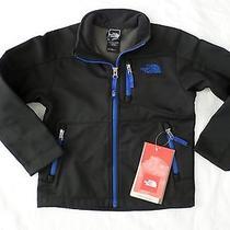 New the North Face Kids Boys Apex Bionic Softshell Jacket Black Blue Xxs 2xs 5 Photo