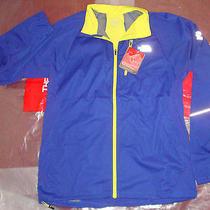 New the North Face Mens Apex Lite Runners Fd Jacket Medium 130 Bolt Blue F12 Photo