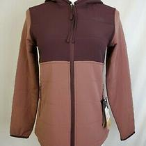 New the North Face Mountain Hooded Jacket Womens- Xs/ Black /root Brown-Marron Photo