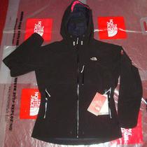 New the North Face Womens Jammu Softshell Rain Hoodie Jacket Large 399 Black Photo