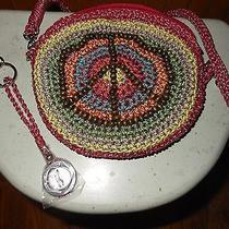 New  the Sac  Crossbody Purse  Peace Sign  Key Fob Photo