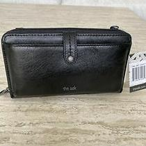 New the Sak Iris Smartphone Crossbody Bag Purse Clutch Black Onyx 1266477 Photo