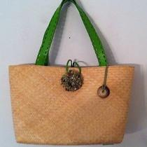 New the Sak Straw Embellished Beach Cruise Summer Tote Bag Purse Photo