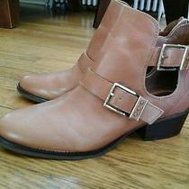 New the Sak Woman's Ankle Boots  Brown Size 9.5  Leather  Photo