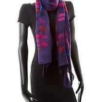 New Theodora & Callum Grand Canyon Wearable Art Gauze Scarf Purple Photo