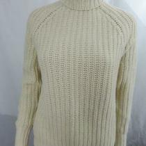 New Theory Alpaca Knit Turtleneck Sweater Long Sleeve Ivory Size S Nwt 285 Photo