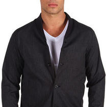 New - Theory Men's 'Brently' Lightweight Jacket in Black Oil Color - Size Medium Photo