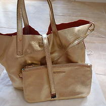 New Tiffany & Co. Orange Gold Reversible Small Tote Bag. Photo