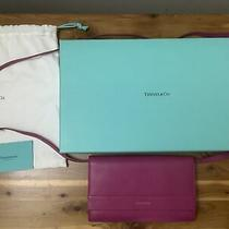 New Tiffany & Co Pink/ Magenta Leather Clutch/ Crossbody Bag/ Wallet Box Bag Photo