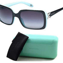 New Tiffany & Co Tf4047b 8055/3c Sunglasses 4047b  80553c Black/azure Gray Photo