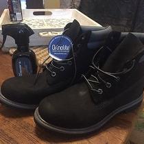New Timberland Classic Premium Waterproof Black Nubuck Leather Women's Size 10 Photo