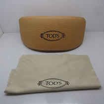 New Tod's Beige Sunglasses Case W/ Cloth Photo