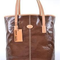 New Tod's Brown Toujours Shopping Media Coated Canvas Shopper Purse Bag Tote Photo