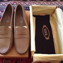New Tod's Gommini Gommino Driving Shoes Moccasins Flats 41.5 425 Photo