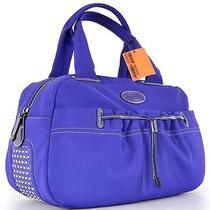 New Tod's Pashmy Purple Grande Gommini Dot Bauletto Purse Bag Totegorgeous Photo