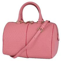 New Tod's Pink Signature Stamped Leather Bauletto Crossbody Purse Bag Satchel Photo
