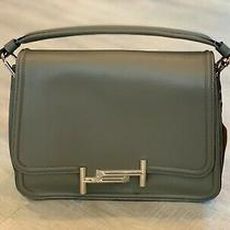 New Tod's Small Double T Leather Amu Messengerpiccola Bag Gray Photo