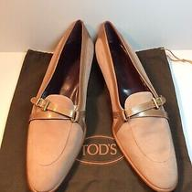 Newtods Womens Blush Pink Suede & Tan Leather Slip-on Shoes Italy Sz 40-1/2 Photo