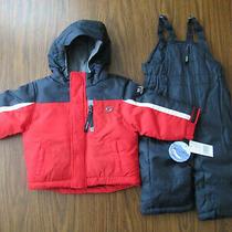 New Toddler Baby Boy Snowsuit - 18m Skechers 2 Piece Navy Red Coat Jacket Bibs  Photo
