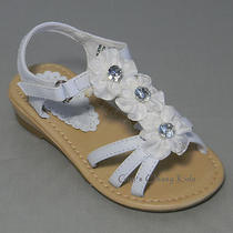 New Toddler Kids Youth Girls White Sandals Size 5 Dressy Casual Easter Fancy Photo