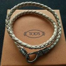 New Tods Leather Woven Braided Bracelet L Photo
