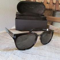 New Tom Ford Campbell Shiny Square Sunglasses Ft 0198 (Retail 360) Photo