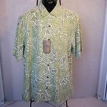 New Tommy Bahama Large Camp Shirts Button Front Clover Green  Msrp 138.00 Photo
