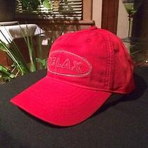 New Tommy Bahama Men's Prorelax Fishing Hat Golf/baseball Cap(red)cotton/adjust Photo