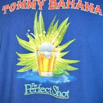 New Tommy Bahama Relax Perfect Shot Mens Tee Shirt Navy Blue Size Small Nwt Photo