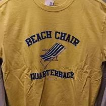 New Tommy Bahama Relax Yellow T-Shirt - Beach Chair Quarterback- Size Medium Photo