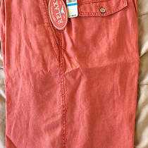 New Tommy Bahama Shorts Beachy Breezer Linen  Orange Dark Coral Tr8772  Macys 36 Photo