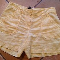 New Tommy Bahama Women's Shorts Yellow 100%Linen Size 16 78 No Reserve  Photo