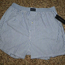 New Tommy Hilfiger Brand Blue Striped Boxers- Medium- Free Shipping in U.s. Photo
