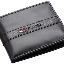 New Tommy Hilfiger Genuine Leather Credit Card Wallet Passcase Billfold 5673 Photo