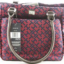 New Tommy Hilfiger Handbag Small Tote Purse 100%  Authentic  New Design Marron Photo