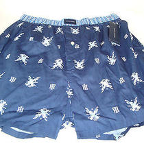 New Tommy Hilfiger Men's 100% Cotton Boxer Navy Blue/golf Clubs S Small 28-30 Photo