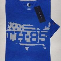 New Tommy Hilfiger Mens Blue Usa Flag Short Sleeve Graphic T-Shirt Xx-Large Xxl Photo