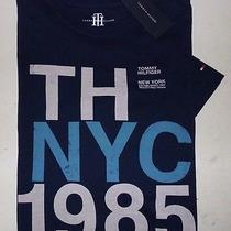 New Tommy Hilfiger Mens Navy Blue Nyc Short Sleeve Graphic T-Shirt X-Large Xl Photo