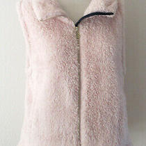 New Tommy Hilfiger Women's Blush Pink Faux Fur Sherpa Vest Jacket M 69.50 Nwt Photo