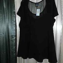 New ... Torrid .... Black Blouse New Photo
