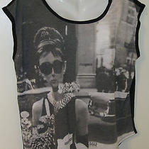 New Torrid Top Blouse 1 1x 18 20 Stretch Breakfast at Tiffany's Audrey Hepburn Photo
