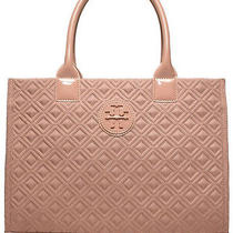 New Tory Burch Ella Quilted Tote in Blush Purse Handbag T Logo Bag Photo